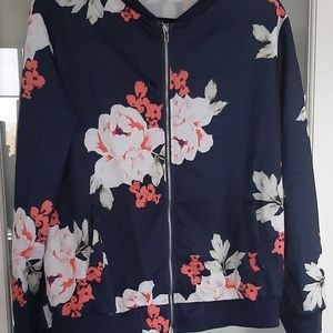 Floral zip top XL (NEW)